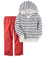 Комплект-двойка Carters брюки и худи (полос) 12М
