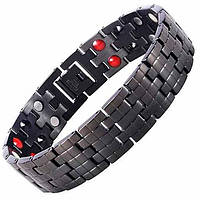 Магнитный браслет - Аура Актив (full black) 4 в 2