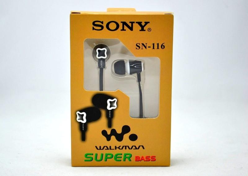 Вакуумные наушники Sony SN-116 - ТехнОстров-Компани. Товары Оптом из Китая в Харькове