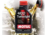 Моторное масло Motul 4100 Turbolight SAE 10w40 (1л)