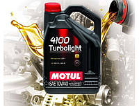 Моторное масло Motul 4100 Turbolight SAE 10w40 (5л)