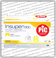 Иглы инсулиновые Инсупен 8 мм (Insupen 8 mm 30G)