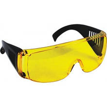 Очки защитные желтые с дужками.