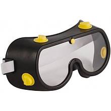 """Очки защитные """"Профи"""" с поликарбонатным стеклом черные"""