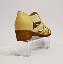 Бежевые кожаные босоножки Guero 012, фото 2