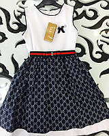 Платье на девочку летнее Турция  Gucci (гучи) 4-5-6 лет