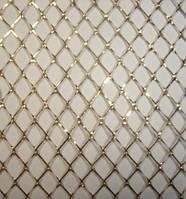 Сетка декоративная золотая 10х50
