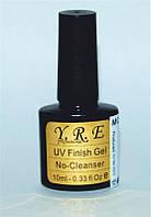 Финишное покрытие для гель-лака YRE МСТ-00, гель с кисточкой финиш без липкого слоя 10мл
