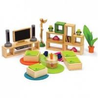 Деревянная игрушка Набор мебели Стильная гостиная HAPE 897570