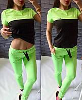 Женский спортивный костюм с футболкой, цвета
