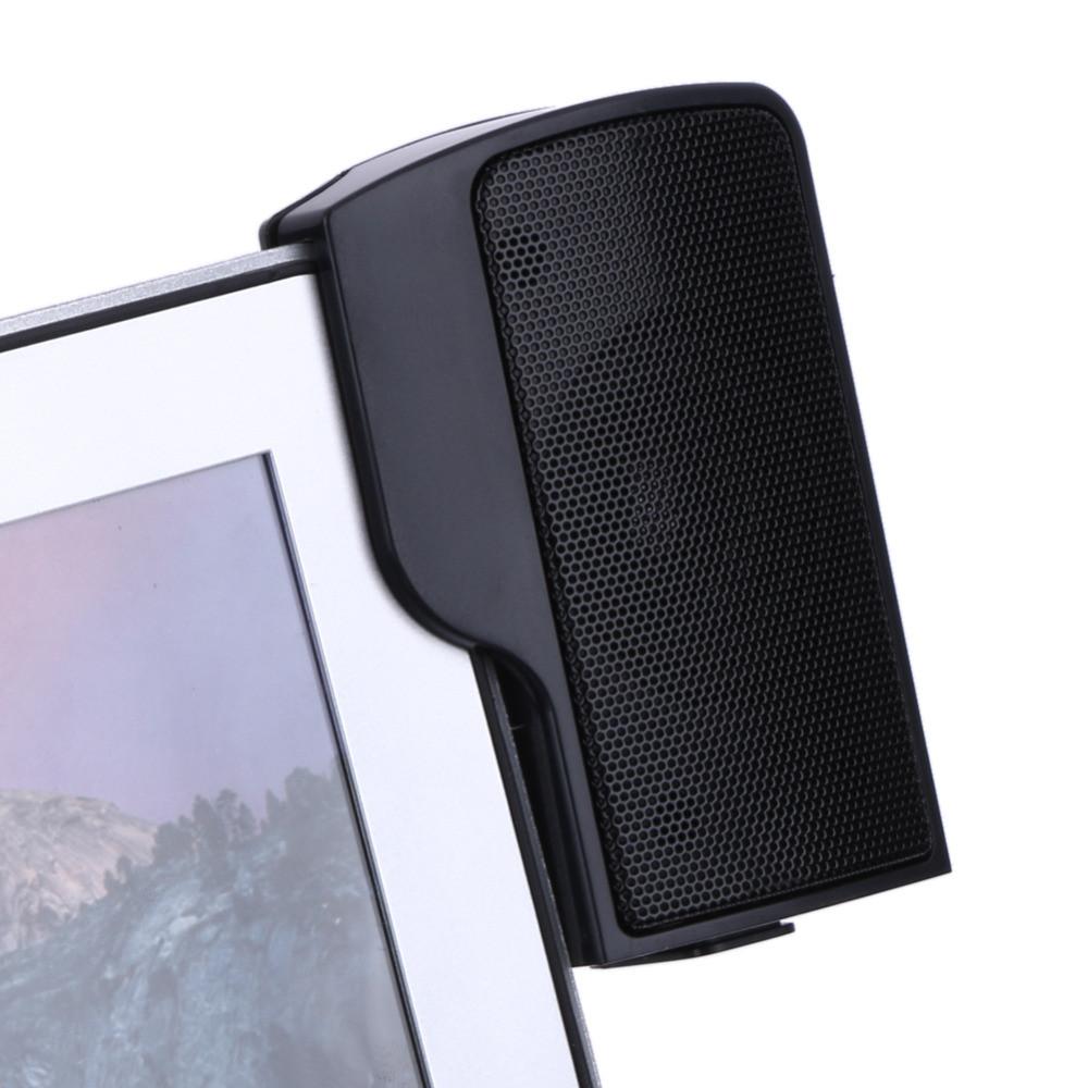 Стерео-колонки USB для ноутбука/ПК на прищепках-клипсах