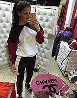 Трикотажный спортивный костюм женский