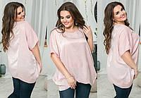 """Стильная женская блуза-туника в больших размерах 081 """"Шёлк Кристалл"""" в расцветках"""