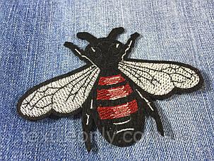 Нашивка пчела 110х80 мм, фото 2