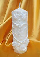 Свеча свадебная. Цвет:Белая. Высота:13см.