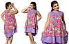 Платье женское  цветы 398 батал, фото 2