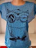 Женская футболка Сова, футболки оптом