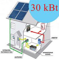 Солнечная электростанция сетевая 30 кВт