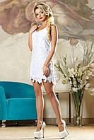 Кружевное летнее платье 42-48 размера белое, фото 1