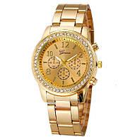 Женские часы Geneva Kors Style Gold со стразами