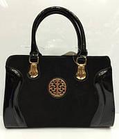 Классическая каркасная сумка с пряжкой, черного цвета