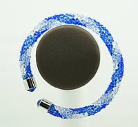 1127 Женские браслеты жгуты из стекляруса.