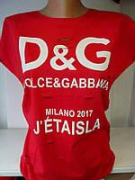 Женская футболка D&G с разрезами