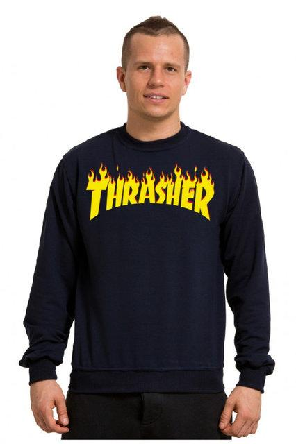 """Свитшот мужской т синий с принтом """"Thrasher""""   Кофта"""