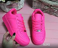 Женские кроссовки Nike Air Force розовые
