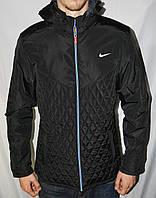 Мужская осенняя куртка Nike стеганая из плащевки, куртка Найк