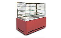 Кондитерская витрина Дакота Куб F mini 1300/600 1,0 ВХК(Д) +МДФ Технохолод (холодильная)