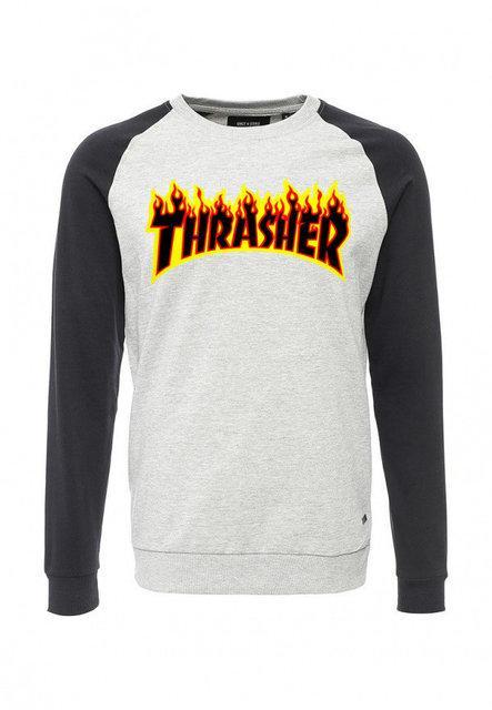 """Свитшот мужской """"Thrasher"""" огненный"""