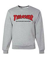 "Свитшот мужской серый ""Thrasher Magazine"" | Кофта"