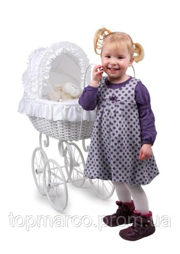 Коляска Vintage плетеные для кукол Анжела