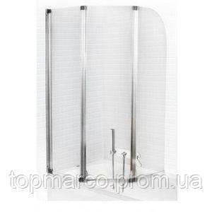 Шторка для ванны Bas Тесса 3 glass 140x145 3