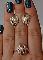 Серебряный гарнитур с золотыми напайками
