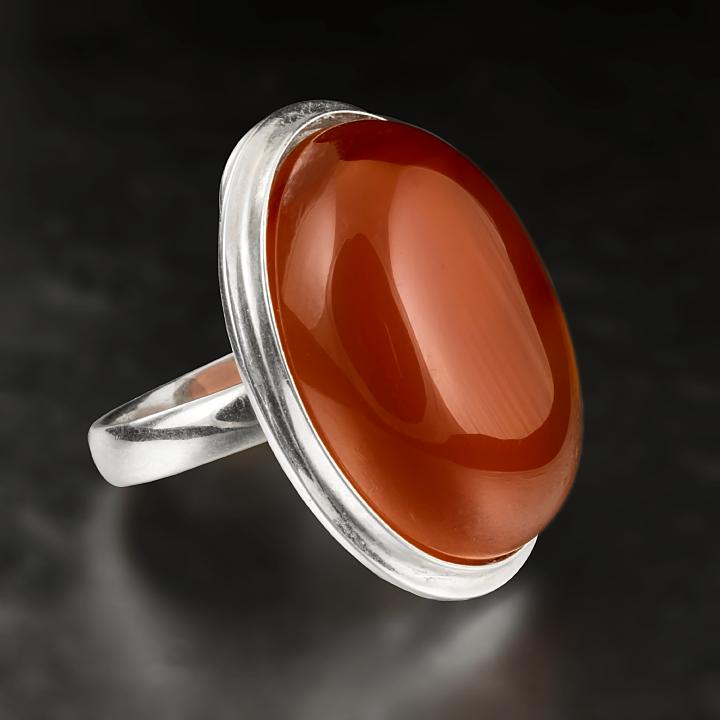 Сердолик, 25*18 мм., серебро 925, кольцо, 454КС