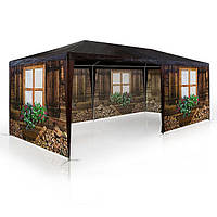 Садовый павильйон беседка, торговая палатка шатёр намет альтанка 3х6м