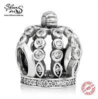 """Серебряная подвеска-шарм Пандора (Pandora) """"Сказочная корона"""" для браслета"""