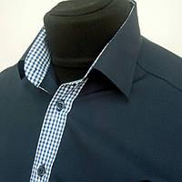 Рубашка темно-синяя