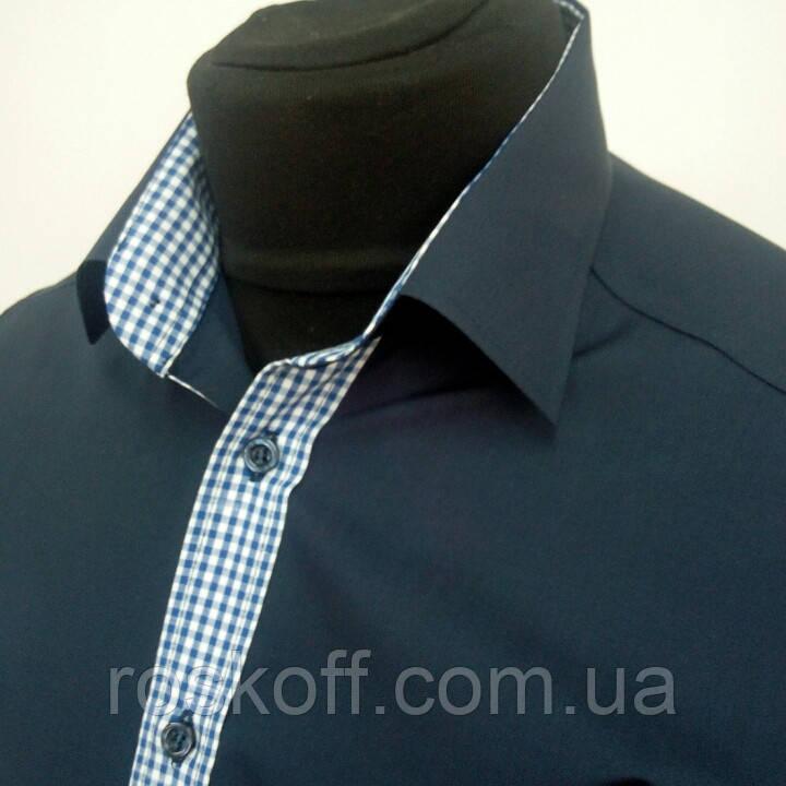 2cd076c693e9271 Рубашка темно-синяя - Оптовая и розничная продажа мужской и женской одежды  от