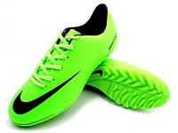 Футбольные сороконожки Nike Mercurial Victory IV Turf Lime/Black, фото 1