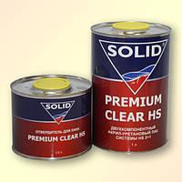 Лак автомобильный Solid Premium Clear HS 1л с отвердителем 0,5л