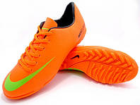 Футбольные сороконожки Nike Mercurial Victory IV TF Orange/Green/Black