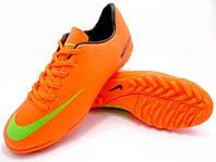 Футбольные сороконожки Nike Mercurial Victory IV TF Orange/Green/Black, фото 1