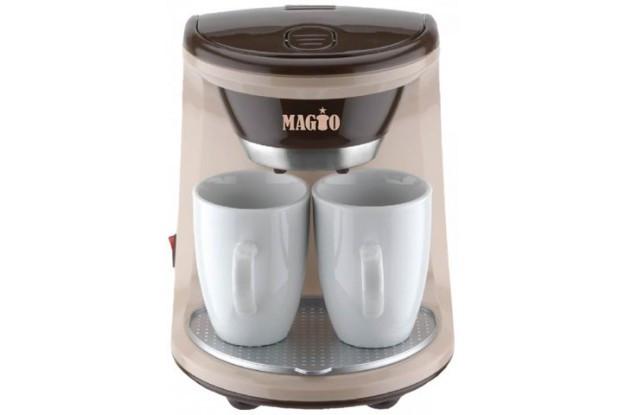 Кофеварка MAGIO МG-345, 450Вт, 2 чашки в комплекте
