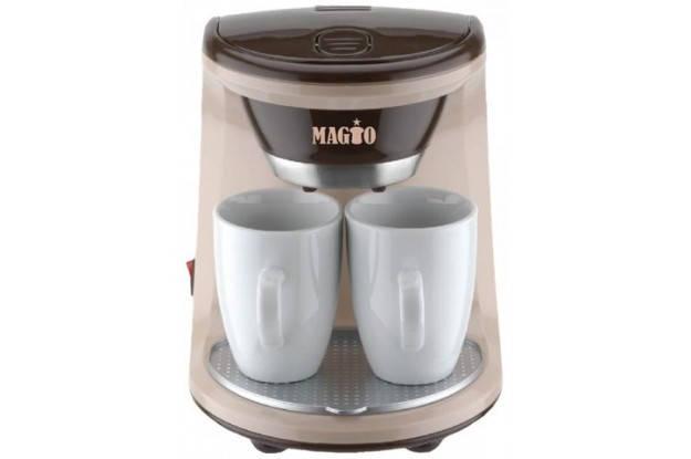 Кофеварка MAGIO МG-345, 450Вт, 2 чашки в комплекте, фото 2