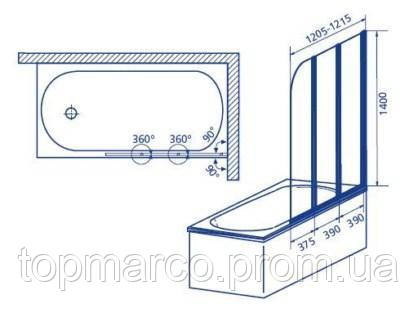 Шторка для ванны Aquaform Modern 2 170-06965 3