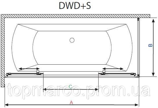 Шторка для ванны RADAWAY Vesta DW + S 160x70x150 см 6