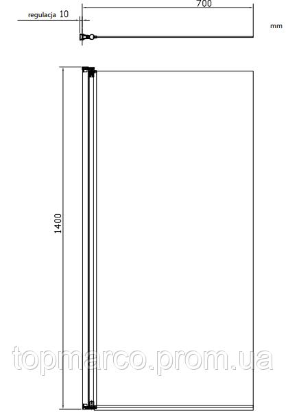 Шторка для ванны Omnires Кентон MP75 4